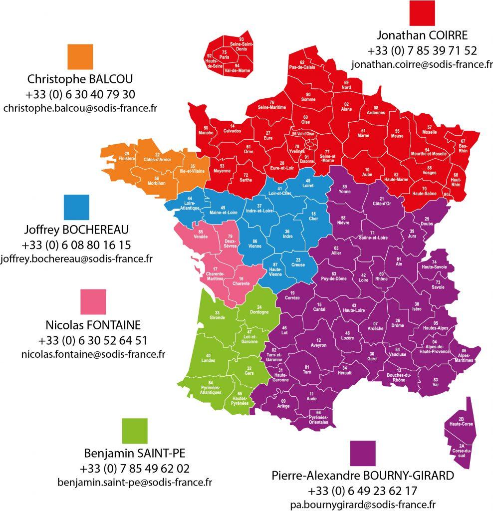 Plan des secteurs - SODALEC DISTRIBUTION
